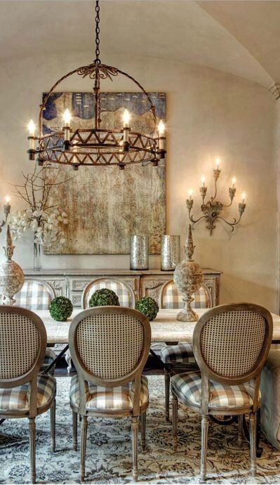 Old World Mediterranean Italian Spanish Tuscan Homes Decor French Country Dining Room French Country Dining Room Decor Tuscan House Beautiful french country dining rooms