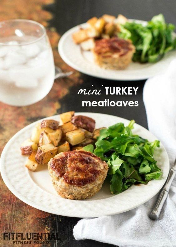 mini turkey meatloaves recipe - muffin pan meatloaves. The perfect protein packed meal for a healthy lunch or dinner, you'll love the savory flavors and the nutrition.
