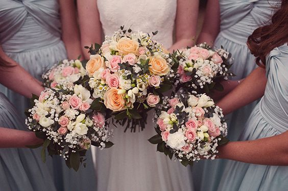 Wedding Bridal Bridesmaid Bouquets http://www.rebeccadouglas.co.uk/blog/