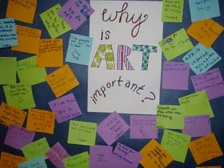 Why Is Art Important? quick way to brainstorm ideas for arts in ed wk lesson