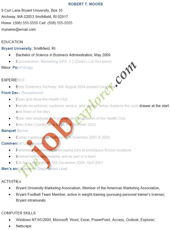 Front Desk Clerk Resume Examples - http\/\/wwwresumecareerinfo - persona trainer sample resume