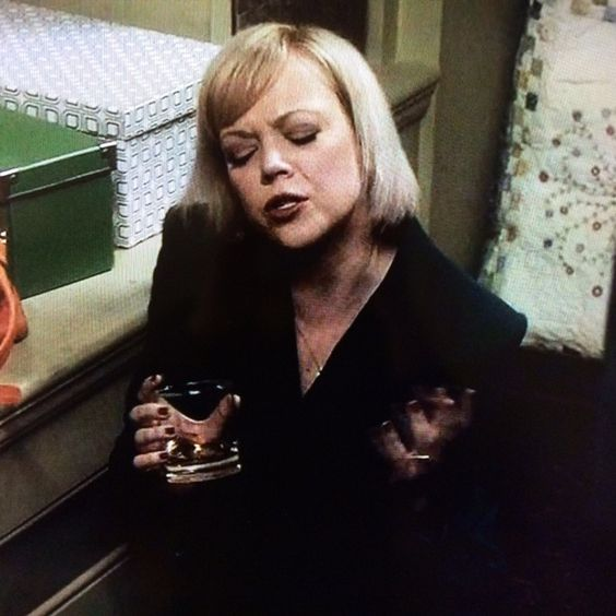 We did see another female character drink some whiskey this week! Cheers to you, Janet, Cy's first wife.