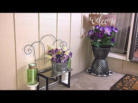 Diy Dollar Tree Spring Outdoor Porch Decor Floral Decor Wagon Youtube Diy Porch Decor Spring Porch Decor Porch Decorating