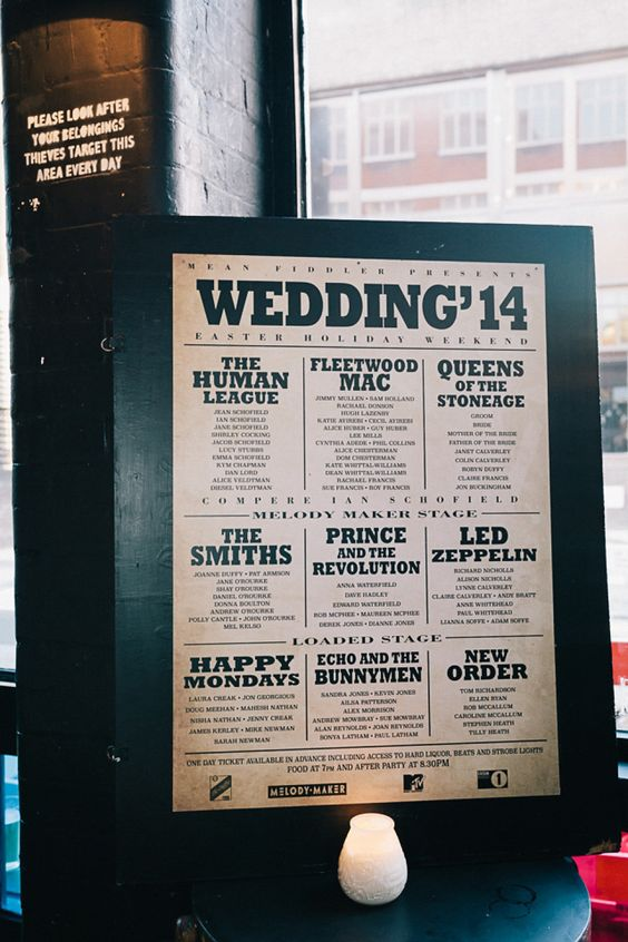 Music inspired wedding table plan   Photography by http://www.brighton-photo.com/