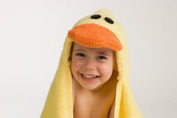 PERSONALIZED Duck Hooded Towel