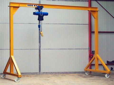 1 Ton Gantry Crane 2t 3t 4t 5t 6t 8t Portable Gantry Crane For Sale In 2020 Gantry Crane Wall Mounted Table Cranes For Sale