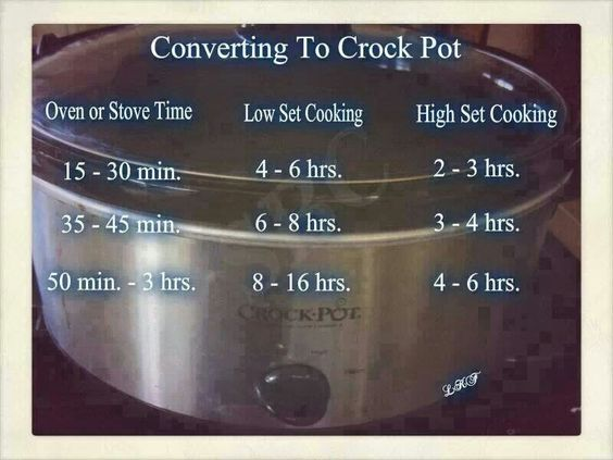Oven to crock pot
