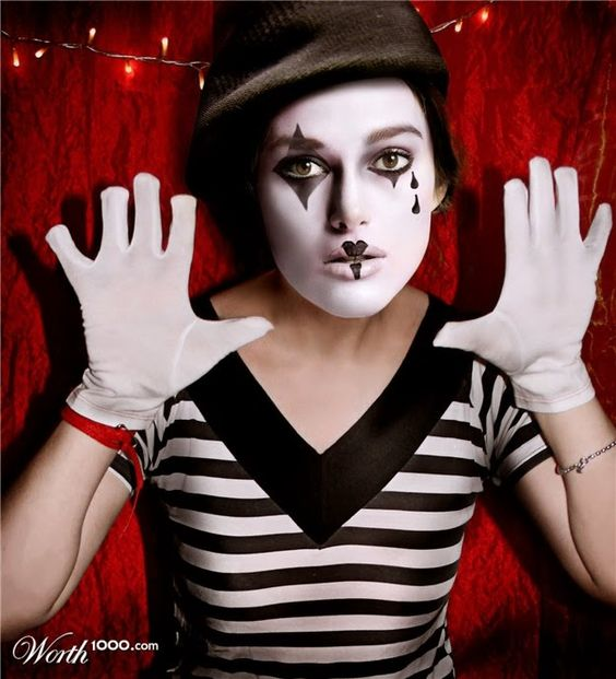 halloween mime makeup deguisements pinterest halloween maquillage et maquillage de mime. Black Bedroom Furniture Sets. Home Design Ideas