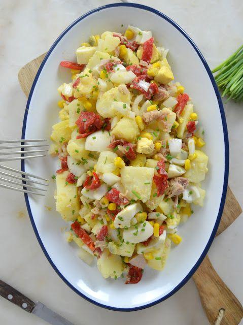 Ensalada De Patata Y Atún Fácil Y Rica Juanan Sempere Ensalada De Patatas Verduras Ensalada De Papa