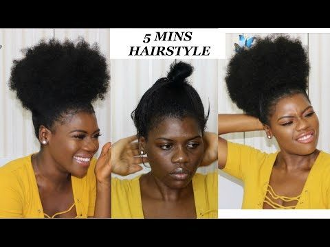 Fake It Till You Make It Go From Twa Puff To A Large Afro Puff In 2 Mins Short Natural 4c Hair Youtu Afro Puff Hairstyles Drawstring Ponytail Hair Puff
