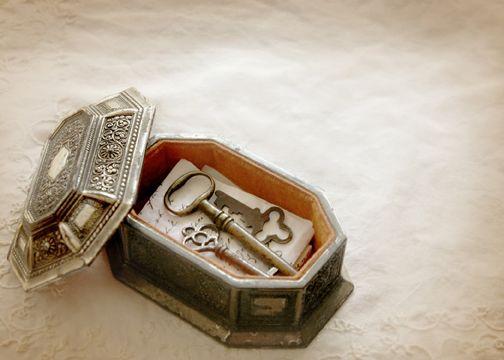 ornate box with vintage keys