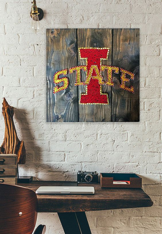 Iowa State Wall Art by GettinHammered on Etsy