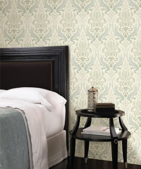 Damask by Kenneth James www.brewsterwallcovering.com