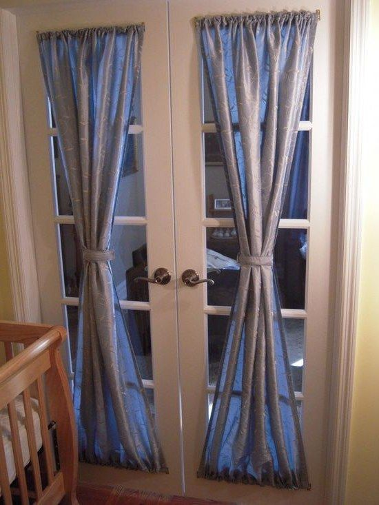 Homebase Ready Made Curtains And Elegant And Easy Diy Curtain Ideas To Dress Door Window Treatments French Door Window Treatments Patio Door Window Treatments