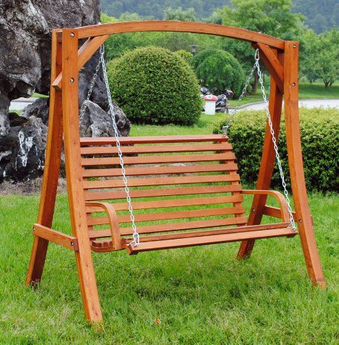 Awesome 2 3 Seater Larch Wood Wooden Garden Outdoor Swing Seat Bench Hammock 1 9m Buy This And