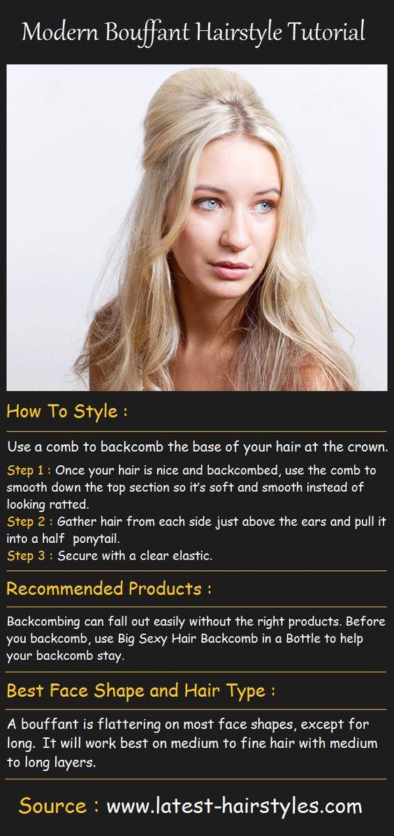 Modern Bouffant Hairstyle Tutorial