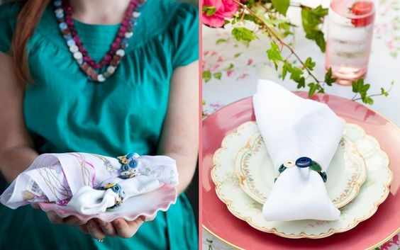 Mother's Day Button Necklace and Napkin Ring on PaulaDeen.com