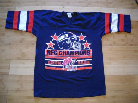 Vintage New York Giants 1987 Superbowl XXI NFC by appsnzerts