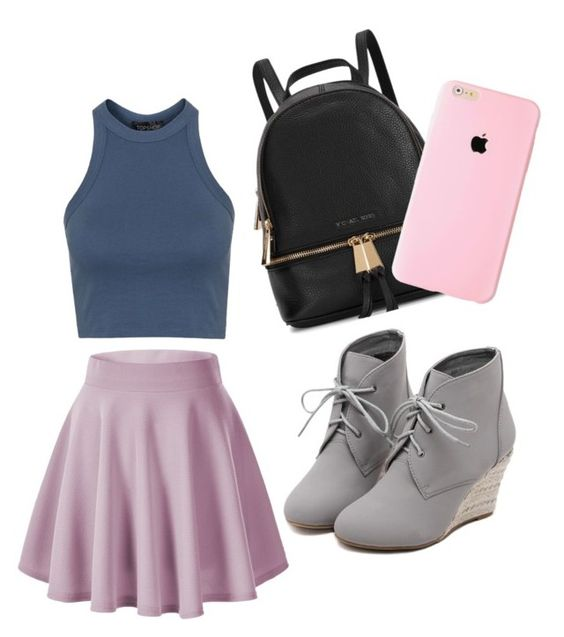 """""""Queen of da School"""" by bellajones2005 on Polyvore featuring Michael Kors, Topshop, WithChic, women's clothing, women's fashion, women, female, woman, misses and juniors"""