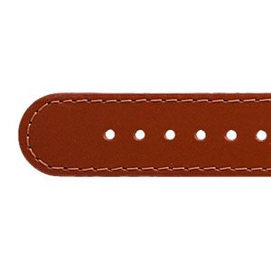 blutorange Deja Vu - Lederuhrenbänder, schmal, mit vergoldeter Edelstahlschließe