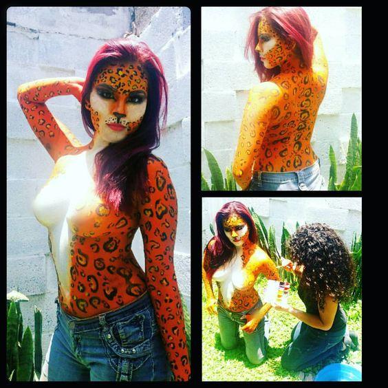 #bodypaint  #feline  #beauty