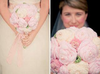 Solteiras Noivas Casadas: Inspiração: Casamento com Decoração em Crochê