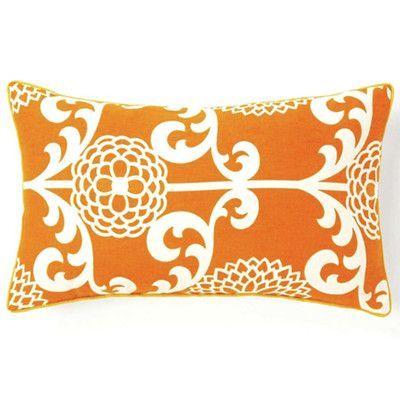Jiti Floret Cotton Lumbar Pillow Color: