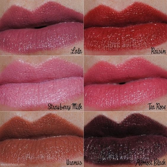 want NYX Round Lipstick Swatches B52, paris, fig, Thalia ...