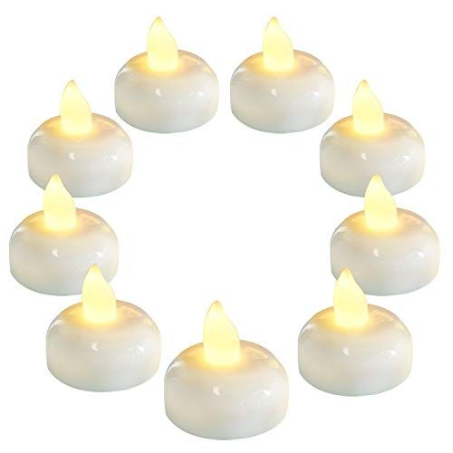 Homemory 36 Pack Flameless Floating Candles Warm White Led