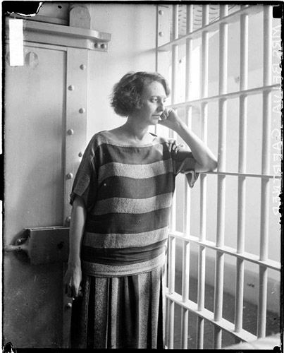 """Prison Garb, 1924. Belva Annan, the murderess whose trial records became the musical """"Chicago."""""""