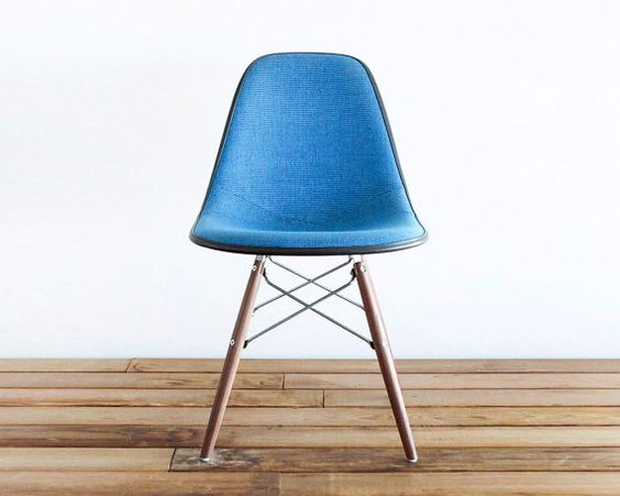 A vintage Eames chair.