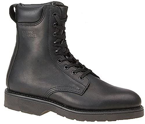 America Mens Leather 8 Steel Toe Lace
