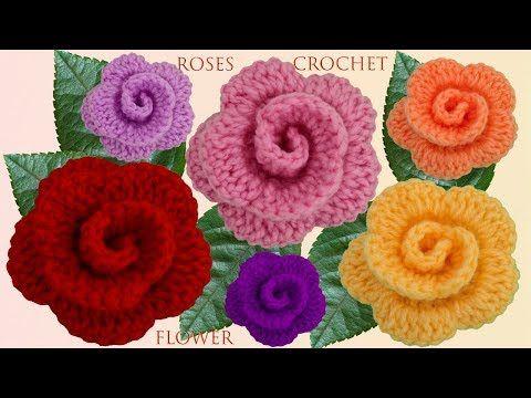 Flores de crochet paso a paso para principiantes