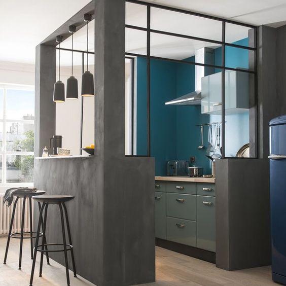 Enduit de d coration magic beton coloris carbone 15kg for Enduit decoratif cuisine