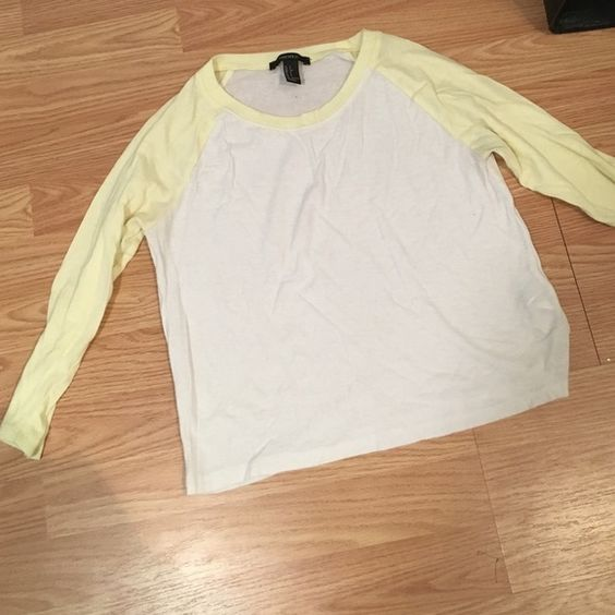 Forever 21 Baseball Tee! Super cute and soft! Worn once! 3/4 length sleeves Forever 21 Tops Tees - Long Sleeve