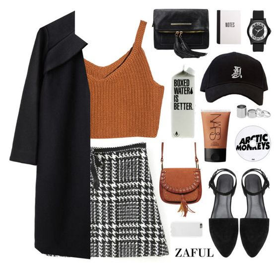 """camel"" by jesicacecillia ❤ liked on Polyvore featuring moda, A Détacher, NARS Cosmetics, Marc by Marc Jacobs, Betty Jackson, women's clothing, women's fashion, women, female y woman"