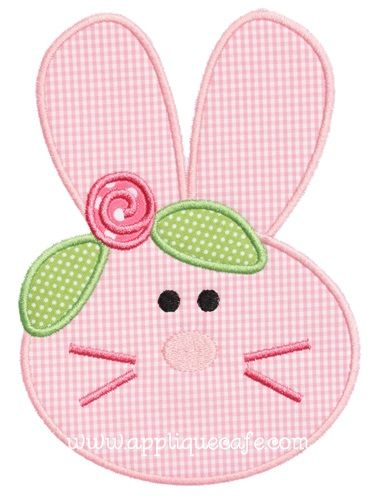 Bunny Face 2 Applique Design: