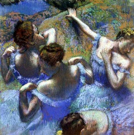 Degas,  Blue Dancers, late 1890s: