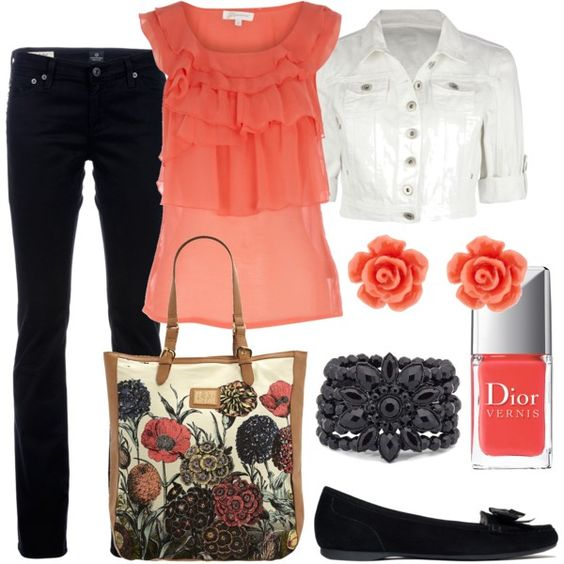 Coral, created by cynthia335.polyvore.com