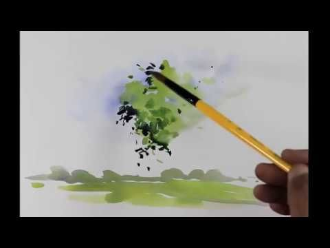 How To Make Tree In Watercolors Easy Demo For Beginners By