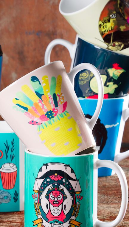 This website features artist designs on different items - cell phone cases, duvet covers, mugs. .