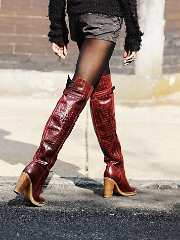 Novak Over the Knee Boot | Rounded toe, leather over the knee boot ...
