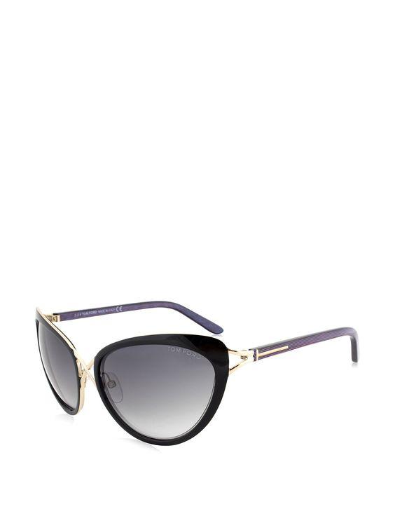6aaa028a218052 Tom Ford Women s Daria Cateye Sunglasses, Black Gold. Tom. Ford. FT0321