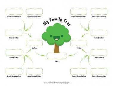 New Cute Family Tree Template Children 31 Ideas Tree Children