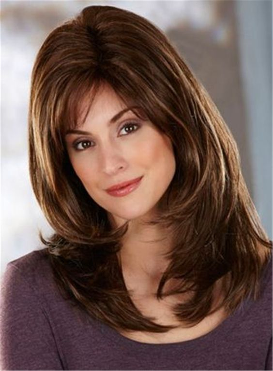 Side Fringe Layered Cut Synthetic Capless Straight Wigs