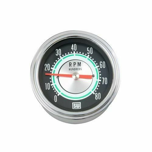 Sponsored Ebay Stewart Warner Green Line Tachometer 0 8 000 3 3 8