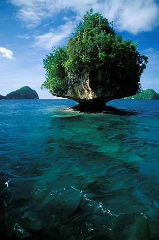 Rock Islands, Palau. I've been there, and it is just as amazing as it looks.