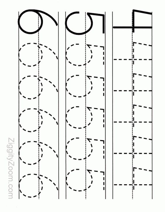 Worksheet Kindergarten Readiness Worksheets printable numbers alphabet and number tracing on pinterest kindergarten readiness worksheet 4 6 ziggity zoom