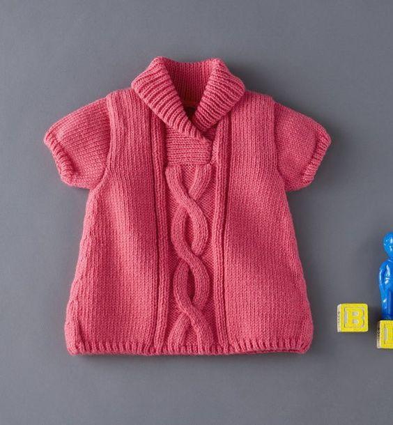 patron tricot robe bebe