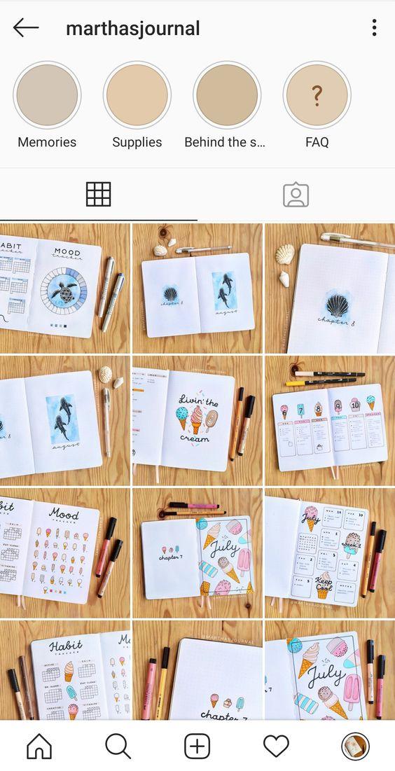 Bullet Journal et Instagram : mes 20 comptes favoris